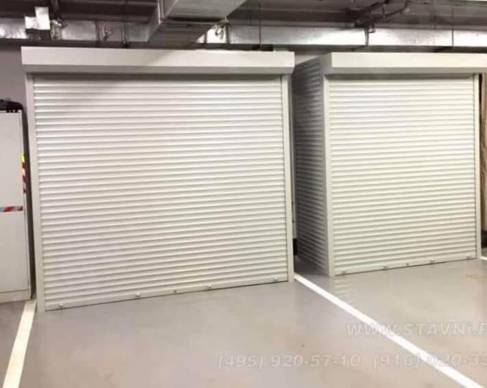 Metāla rullīšu skapji pazemes autostāvvietai un garāžai